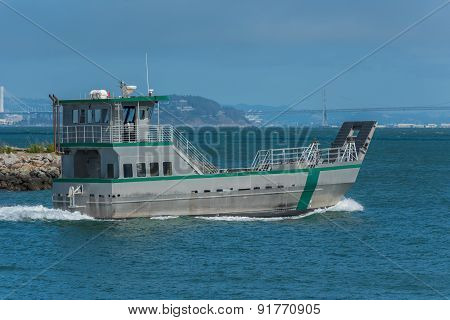 Two Level Landing Craft In San Francisco Bay
