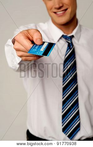 Take My Card For Payment.