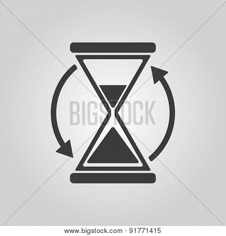 The Hourglass Icon. Clock Symbol.