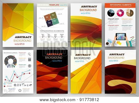 Orange Creative Backgrounds And Abstract Concept Vector Icons
