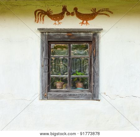 Window Of The Old Traditional Ukrainian House