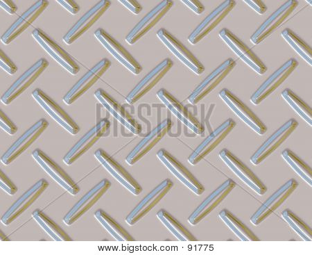 Seamless Diamond Plate Background In Silver