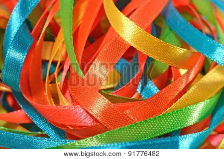 Colorful Ribbons Close Up