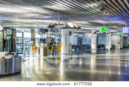 Airport At Early Morning With Open Check