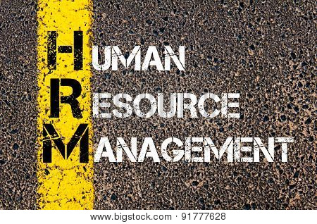 Business Acronym Hrm As Human Resource Management