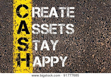 Business Acronym Cash As Create Assets Stay Happy