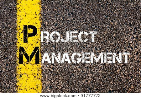 Business Acronym Pm As Project Management