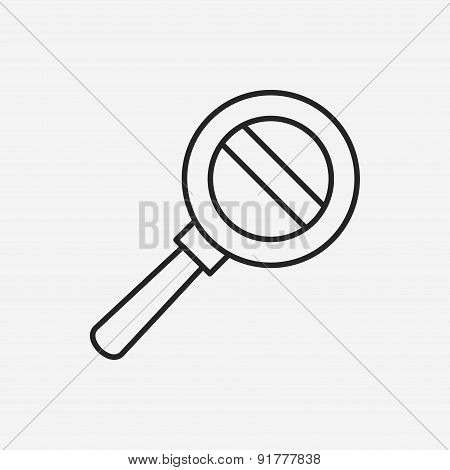 Magnifier Line Icon