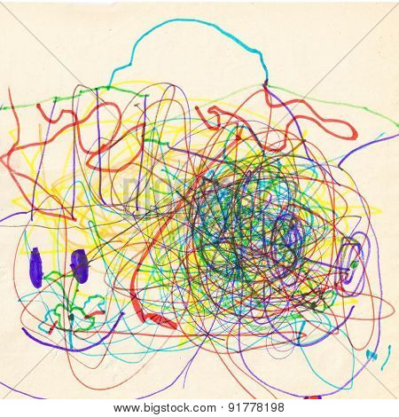 Abstract Children Drawing