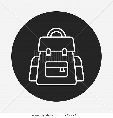Backpack Line Icon