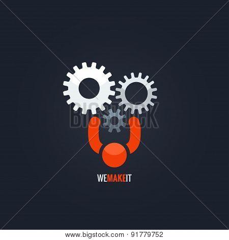 gears teamwork concept background
