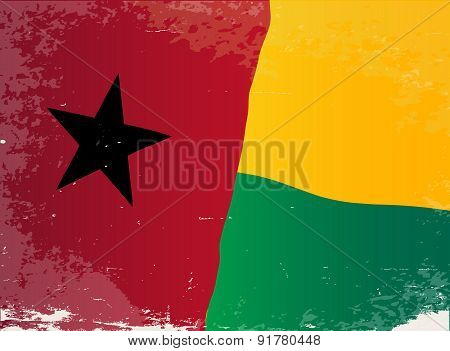 Guinea Bissau Flag Grunge