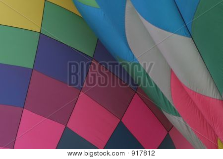Abstract Of Two Hot Air Balloons
