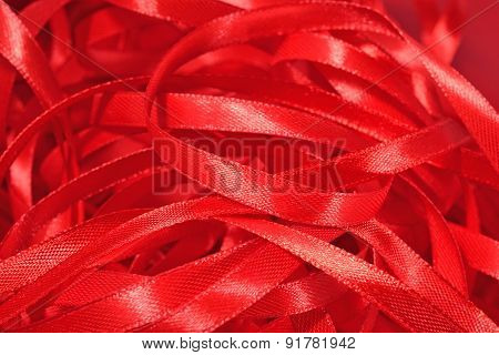Red Ribbons Close Up