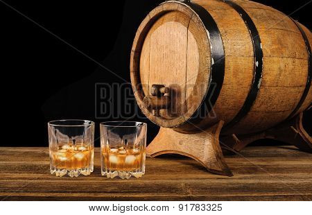 Whiskey And Oak Barrel