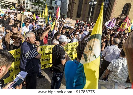 People Demonstrate Against Murder And Violation Of Kurdish People