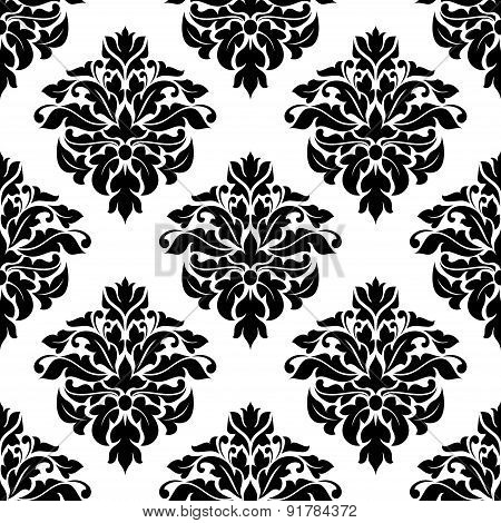 Victorian floral decorative seamless pattern