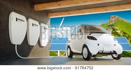 Home Wall Battery Concept