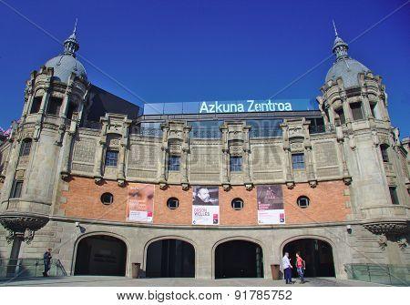BILBAO, SPAIN, MAY 28, 2015: View of Azkuna Zentroa, Alhondiga, in Bilbao, Bizkaia, Spain