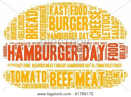Hamburger Day Concept - Word Cloud