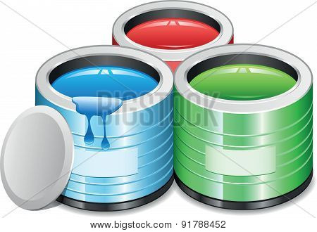 Paint Tins - Illustration