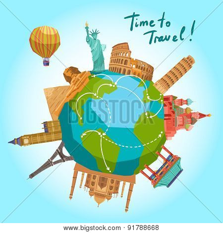 Travel Landmarks Background