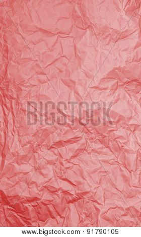 Red Rumpled Paper Texture