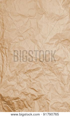 Brown Rumpled Paper Texture