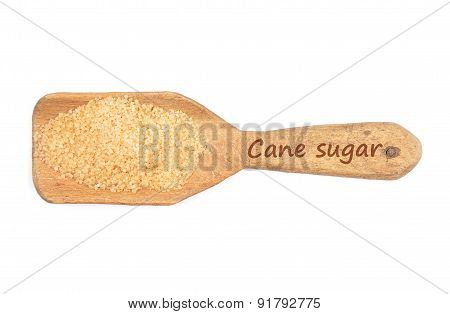 Brown Cane Sugar On Shovel