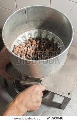 Machine For Grinding Cocoa.