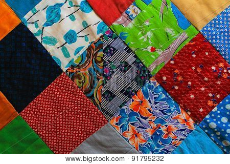 Fabric textile background with square pattern