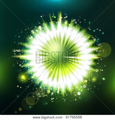 Futuristic Unknowing Particle Green Illustration
