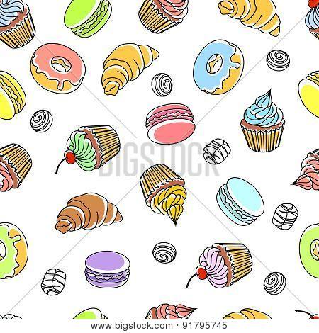 Cakes Seamless Pattern
