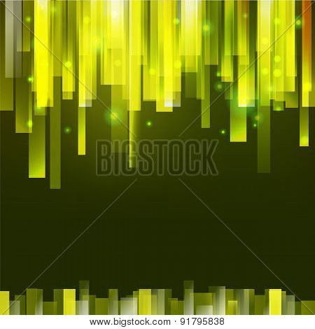 Green Vertical Oriented Lines For Your Text, Dark Background