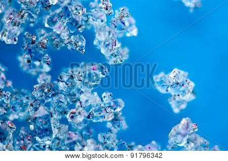Background From Blue Crystals Macro