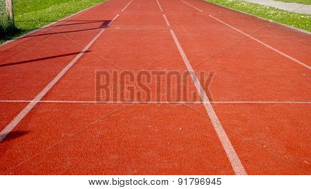 Four Lanes Running Track