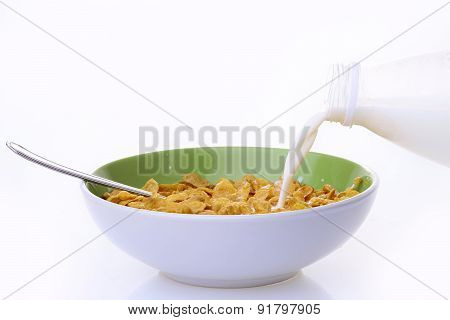 Plate Of Krispy With Milk
