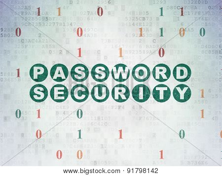 Safety concept: Password Security on Digital Paper background