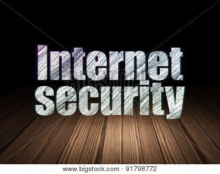 Privacy concept: Internet Security in grunge dark room