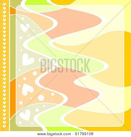 Modern colorful background with hearts