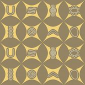 picture of aborigines  - Seamless background with symbols of Australian aboriginal art for your design - JPG