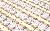 stock photo of bundle money  - Russian money bills stacks background - JPG
