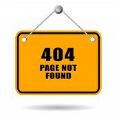 stock photo of not found  - 404 page not found sign isolated on white background - JPG