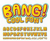 stock photo of  art  - Creative high detail comic font - JPG