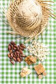 stock photo of brazilian food  - Table with typical Brazilian Sweets for the famous Junina Party - JPG