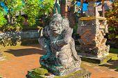 picture of hindu  - Statue in Pura Taman Ayun  - JPG