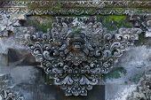 image of hindu  - Fresco Hindu temple complex in Bali indonesia - JPG