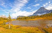 stock photo of passed out  - Alpine Pond on a Mountain Pass near Logan Pass in Glacier National Park in Montana - JPG