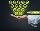 picture of fire insurance  - Business insurance concept - JPG