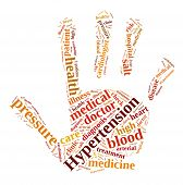 pic of hypertensive  - A illustration with word cloud about hypertension - JPG